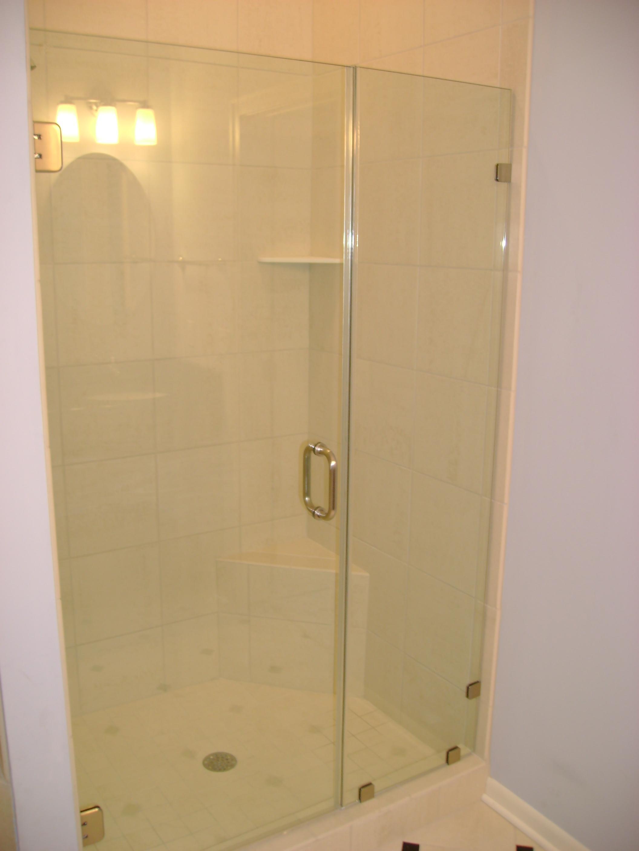 Frameless Inline Shower Enclosure Glass Doors Cutom