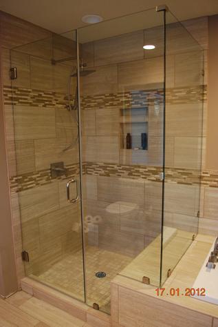 glass 90 degree enclosure
