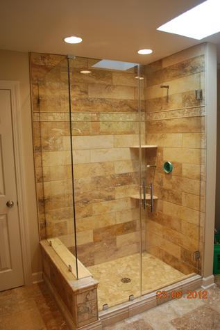 Tiled Shower Enclosures frameless glass showers and glass enclosures